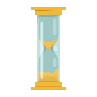 Illustrazione della clessidra gialla clessidra time concept