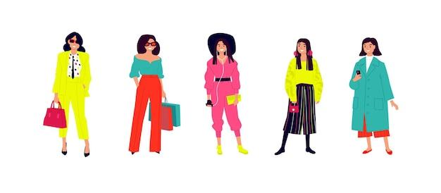 Illustrazione di una giovane ragazza alla moda