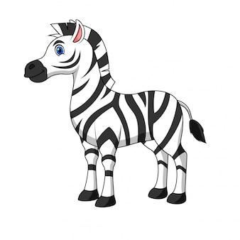 Illustrazione di un cartone animato zebra