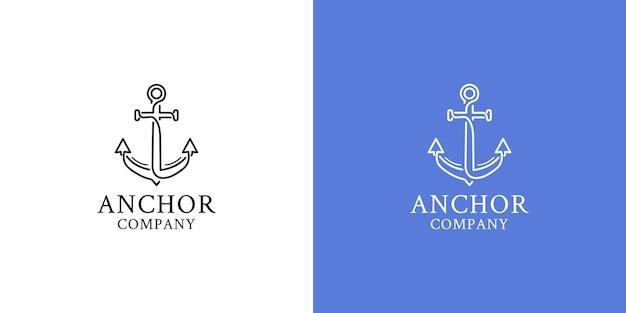 Illustrazioni di ancoraggio logo design