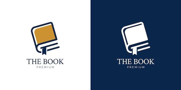 Illustrazioni del design del logo del libro