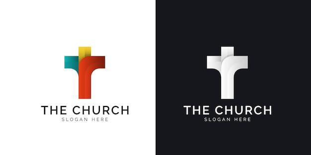 Illustrazioni del design del logo della chiesa