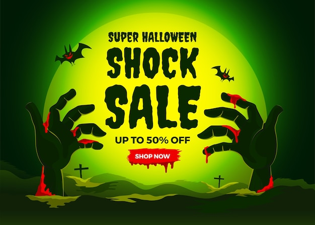 Illustrazioni concetto vendita di halloween