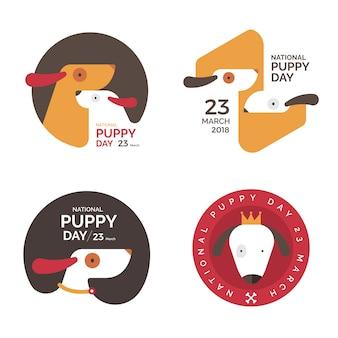 Concetto di illustrazioni giornata nazionale del cucciolo. illustrare.