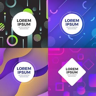 Illustrazioni design concept set di oggetti in stile memphis copre