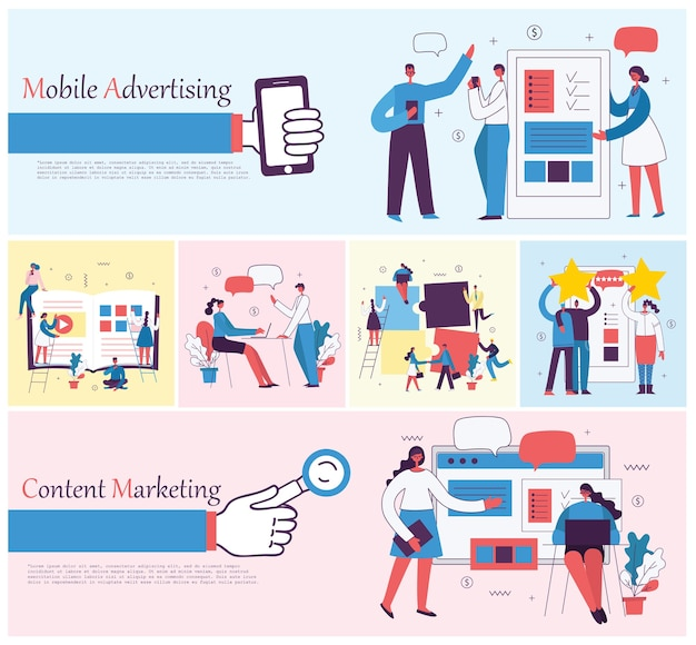 Illustrazioni della gente di affari di concetto di ufficio