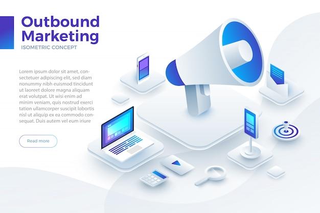 Illustrazioni outbound marketing