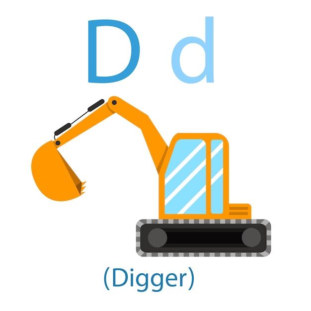 Illustratore di d for digger