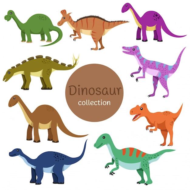 Illustratore della collezione di dinosauri