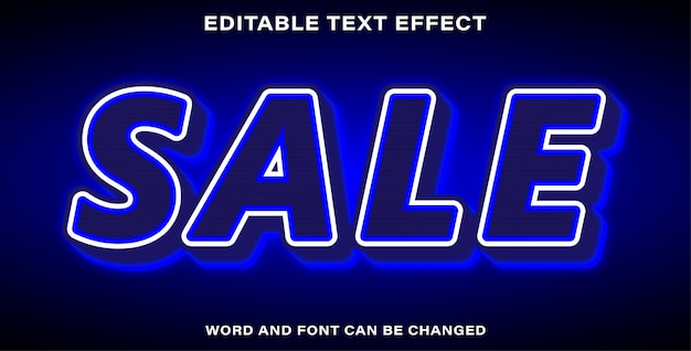 Vendita di effetti di testo modificabile con illustrator