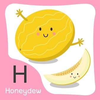 Illustratore di un simpatico alfabeto di frutta melata