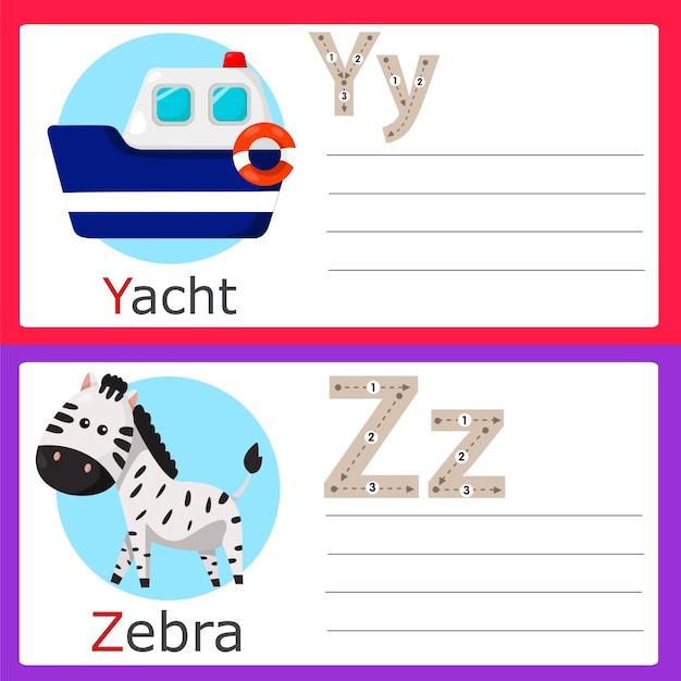 Illustratore di esercizi yz per bambini