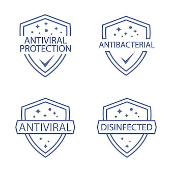 Protezione immunitaria distintivi resistenti agli antimicrobici scudo di protezione contro il coronavirus