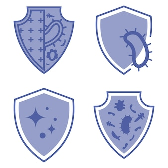 Protezione immunitaria protezione da virus per batteri sani stop virus protezione antibatterica o immunitaria