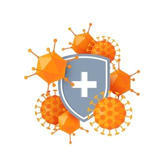 Concetto di sistema immunitario isolato su bianco