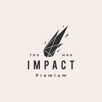 Logo vintage di impatto meteor scintilla hipster