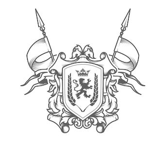 Stemma imperiale isolato su bianco