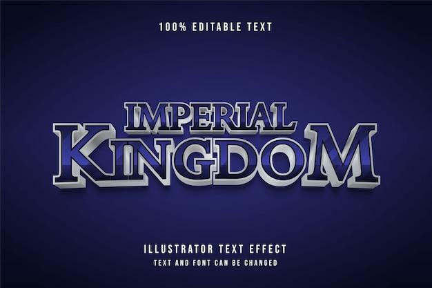 Regno imperiale, effetto testo modificabile 3d sfumatura viola effetto ombra grigio nero