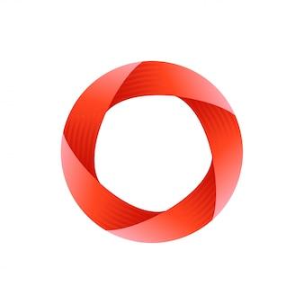 Design del logo del cerchio impossibile