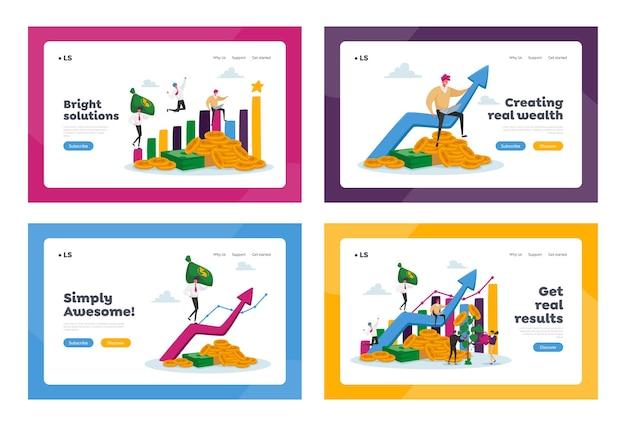 Insieme di modelli di pagina di destinazione della crescita del reddito