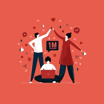 Aumentare follower e influenze sui social media