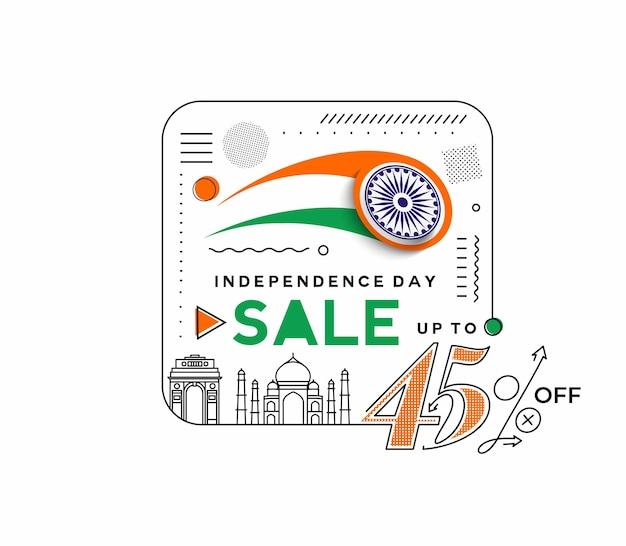 Banner di sconto di vendita del 40% di sconto per il giorno dell'indipendenza. prezzo dell'offerta di sconto. illustrazione moderna della bandiera di vettore.