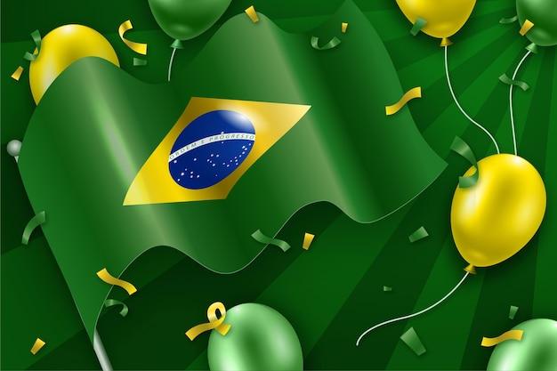 Giorno dell'indipendenza del brasile Vettore Premium