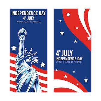 Disegni del giorno dell'indipendenza per gli stati uniti d'america