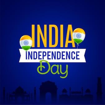Celebrazione del giorno dell'indipendenza in india il 15 agosto illustrazione