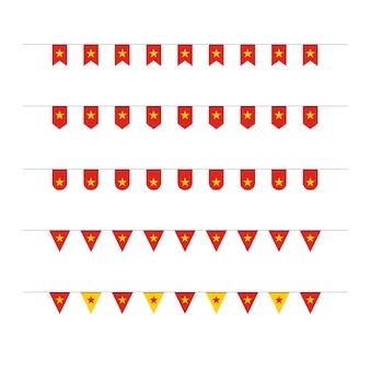 Giorno di indipendenza del vietnam icona illustrazione design