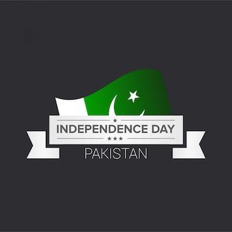 Indipendenza del pakistan con la bandiera del pakistan