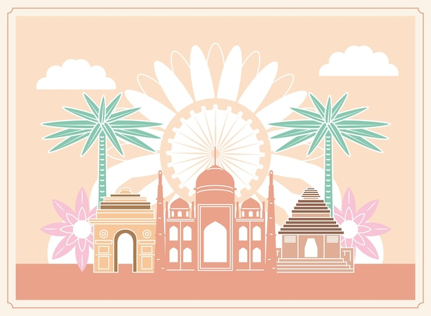 Tempio e edificio famosi in india
