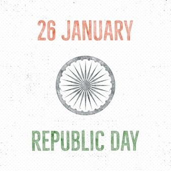 Modello di etichetta vintage giorno della repubblica dell'india. concetto di tipografia retrò. illustrazione vettoriale