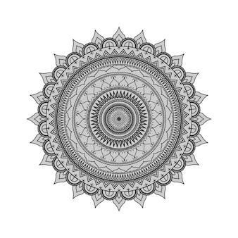 Sfondo bianco e nero indiano arte mandala
