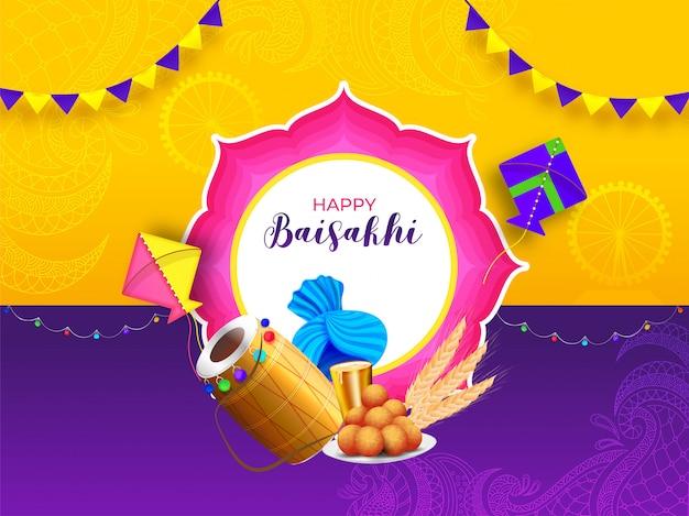 Indian festival baisakhi concept.