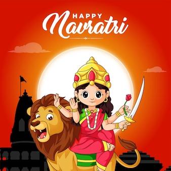 Festival indiano modello di progettazione banner happy navratri