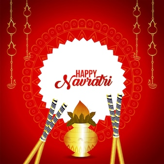 Cartolina d'auguri felice festa navratri festa indiana