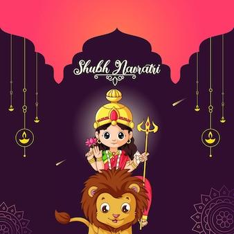 Modello di progettazione banner festival indiano shubh navratri