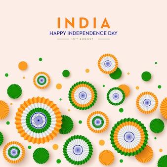 Bandiera indiana felice giorno dell'indipendenza 15 agosto