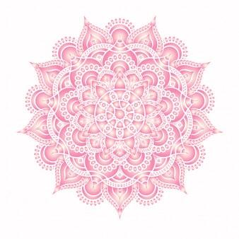 Modello di medaglione floreale indiano paisley. ornamento etnico mandala.