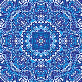 Motivo a medaglione paisley floreale indiano