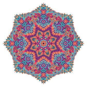 Ornamento floreale indiano di cachemire. stampa floreale mandala etnica.