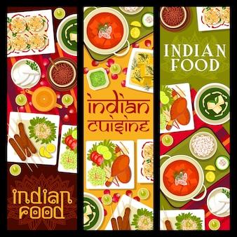 Piatti del ristorante di cucina indiana