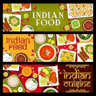 Pasti e piatti del ristorante indiano