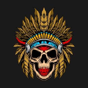 Illustrazione del cranio indiano