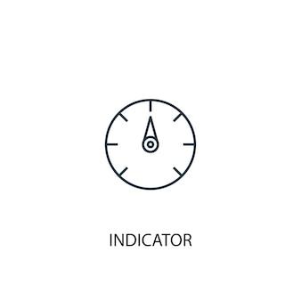 Icona della linea del concetto di indicatore. illustrazione semplice dell'elemento. indicatore concetto contorno simbolo design. può essere utilizzato per ui/ux mobile e web