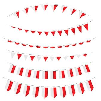Modello di progettazione dell'illustrazione di vettore della bandiera dell'indonesia