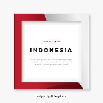 Cornice dell'indonesia Vettore Premium