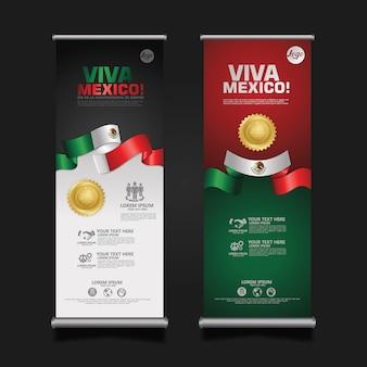 Indonesia independence day celebration, banner set template illustration Vettore Premium