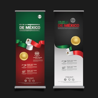 Indonesia independence day celebration, banner set template illustration